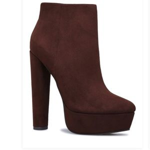Brown Platform Bootie